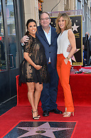 Eva Longoria, Marc Cherry &amp; Felicity Huffman at the Hollywood Walk of Fame Star Ceremony honoring actress Eva Longoria, Los Angeles, USA 16 April 2018<br /> Picture: Paul Smith/Featureflash/SilverHub 0208 004 5359 sales@silverhubmedia.com
