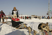 March 3, 2007   Ryan Redington during the Iditarod ceremonial start day in Anchorage