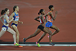 Sifan HASSAN (NED) leads Faith Chepngetich KIPYEGON (KEN) on the last lap in the womens 1500m final. IAAF world athletics championships. London Olympic stadium. Queen Elizabeth Olympic park. Stratford. London. UK. 07/08/2017. ~ MANDATORY CREDIT Garry Bowden/SIPPA - NO UNAUTHORISED USE - +44 7837 394578