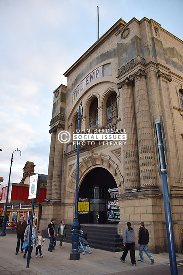 Rundown and closed Empire theatre, Great Yarmouth, Norfolk 2017 UK