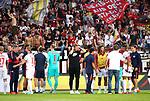 18.08.2019, Stadion an der Wuhlheide, Berlin, GER, 1.FBL, 1.FC UNION BERLIN  VS. RB Leibzig, <br /> DFL  regulations prohibit any use of photographs as image sequences and/or quasi-video<br /> im Bild Leipziger Spieler, vor dem Leipziger Fans, Fanblock, Fan, Trainer Julian Nagelsmann (RB Leipzig)<br /> <br />      <br /> Foto © nordphoto / Engler