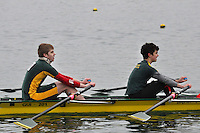 016 GuildfordRC J17A.2x..Marlow Regatta Committee Thames Valley Trial Head. 1900m at Dorney Lake/Eton College Rowing Centre, Dorney, Buckinghamshire. Sunday 29 January 2012. Run over three divisions.