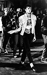 "Michael Jackson 1983 filming ""Beat It"".© Chris Walter."