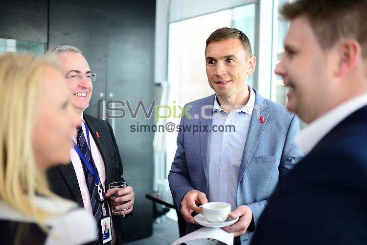 Picture by Simon Wilkinson/SWpix.com - 30/04/2019 - Rugby League RLWC2021 - Deloitte Partnership Deloitte Offices Manchester Kevin Sinfield