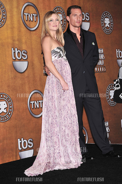 Kate Hudson & Matthew McConaughey at the 14th Annual Screen Actors Guild Awards at the Shrine Auditorium, Los Angeles, CA..January 27, 2008  Los Angeles, CA.Picture: Paul Smith / Featureflash