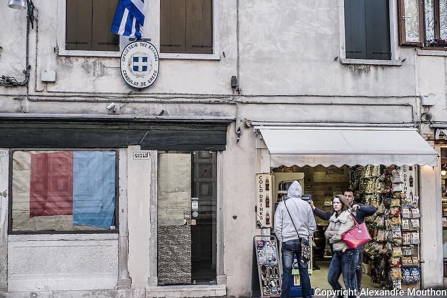 Greece embassy, consulat grec de Venise. Crise financière grecque.