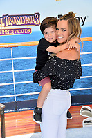 "Teddi Mellencamp & Son at the world premiere for ""Hotel Transylvania 3: Summer Vacation"" at the Regency Village Theatre, Los Angeles, USA 30 June 2018<br /> Picture: Paul Smith/Featureflash/SilverHub 0208 004 5359 sales@silverhubmedia.com"