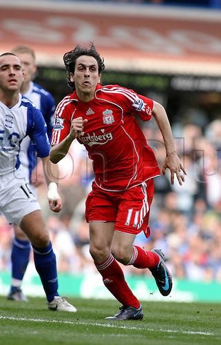 26 April 2008: Liverpool midfielder Yossi Benayoun during the Premier League game between Birmingham City and Liverpool played at St Andrews. The game finished 2-2 Photo: Actionplus....080426 soccer football player