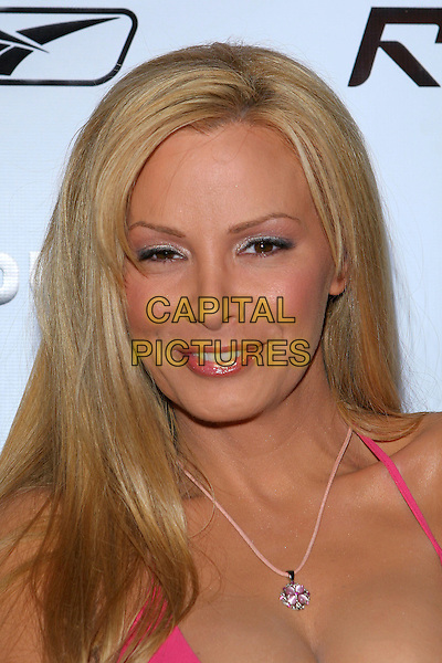 "CINDY MARGOLIS.ESPN ""The Magazine"" and RBK Celebate ""The Pump"",.Rebok Flagship Store,.Los Angeles, 9th August 2005.portrait headshot pink strappy dress diamante necklace .www.capitalpictures.com.sales@capitalpictures.com.© Capital Pictures."