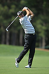 May 8,2011 - Stewart Cink hits his second shot on 10.  Lucas Glover wins the tournament in sudden death over Jonathan Byrd at Quail Hollow Country Club,Charlotte,NC.