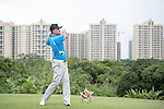 Cao Weiyu plays during the World Celebrity Pro-Am 2016 Mission Hills China Golf Tournament on 23 October 2016, in Haikou, Hainan province, China. Photo by Weixiang Lim / Power Sport Images
