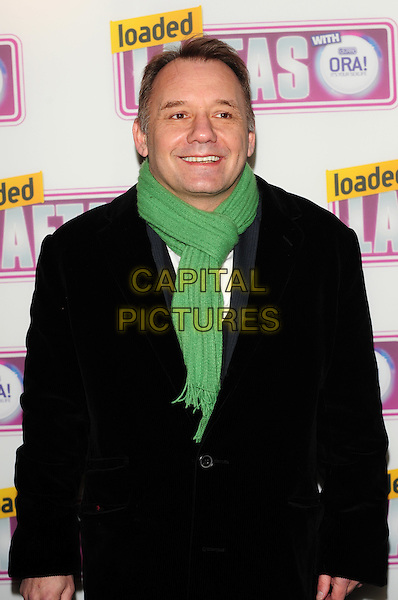 BOB MORTIMER.Attending the Loaded LAFTA's Comedy Awards at the Cuckoo Club, London, England, January 27th 2010..LAFTAs arrivals half length black jacket green scarf  .CAP/CJ.©Chris Joseph/Capital Pictures.