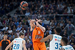 Real Madrid Trey Thompkins and Valencia Basket Bojan Dubljevic during Turkish Airlines Euroleague match between Real Madrid and Valencia Basket at Wizink Center in Madrid, Spain. December 19, 2017. (ALTERPHOTOS/Borja B.Hojas)