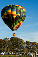 A hot air balloon rises overhead during the annual Carolina BalloonFest, held each fall in Statesville, NC. Photos were taken at the October 2008 event.