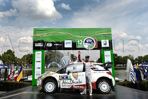 08.03.2015. Guanajuato, Mexico. WRC Rally of Mexico.  PODIUM shot shows OSTBERG