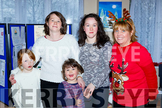 Caithlin and Fiona O'Sullivan, Ella and Catriona Powers and Dee Seaney at Santa visit to Castlemaine Resource Centre on Sunday