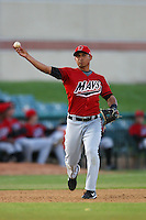 April 19 2009: Ron Garth of the High Desert Mavericks during game against the Lancaster JetHawks at Clear Channel Stadium in Lancaster,CA.  Photo by Larry Goren/Four Seam Images