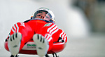 7 February 2009: Gregory Carigiet slides for Switzerland in the Men's Competition at the 41st FIL Luge World Championships, in Lake Placid, New York, USA. .  .Mandatory Photo Credit: Ed Wolfstein Photo