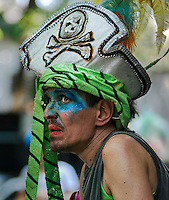 """Patients and workers from mental health hospital Nise da Silveira participates at carnival parade """"Loucura Suburbana,"""" (Suburban Madness) carnival group, Rio de Janeiro, Brazil, February 04, 2016. Patients, their relatives and workers from the institute held their parade one day before the official start of Carnival."""