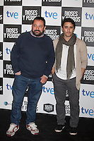 Pepon Nieto (L) poses at `Dioses y perros´ film premiere photocall in Madrid, Spain. October 07, 2014. (ALTERPHOTOS/Victor Blanco) /nortephoto.com