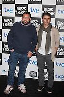 Pepon Nieto (L) poses at `Dioses y perros´ film premiere photocall in Madrid, Spain. October 07, 2014. (ALTERPHOTOS/Victor Blanco) /nortephoto.com