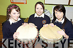 NEW: Taking a hands-on approach to the South African drumming at Scoil Phobal Sliabh Luachra in Rathmore last Thursday were, l-r: Fiona Culloty, Sinead Clarke, Katie Nolan.