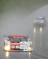 The #01 Lexus Riley of Scott Pruett and Luis Diaz races through the rain at the 6 Heueres du Circuit Mont-Tremblant in Mont-Tremblant, Qubec, Canada, on Saturday, May 21, 2005. (Photo by Brian Cleary/www.bcpix.com)
