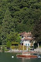 France, Haute-Savoie (74), Talloires:   Villa de la Baie de Talloires,  // France, Haute Savoie, Talloires:   Talloires Bay, villa