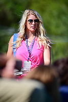 Jon Rahm's (ESP) girlfriend, Kelley Cahill approaches the 14th green where Rahm would win his match over Charles Howell III (USA) during round 4 of the World Golf Championships, Dell Technologies Match Play, Austin Country Club, Austin, Texas, USA. 3/25/2017.<br /> Picture: Golffile | Ken Murray<br /> <br /> <br /> All photo usage must carry mandatory copyright credit (&copy; Golffile | Ken Murray)