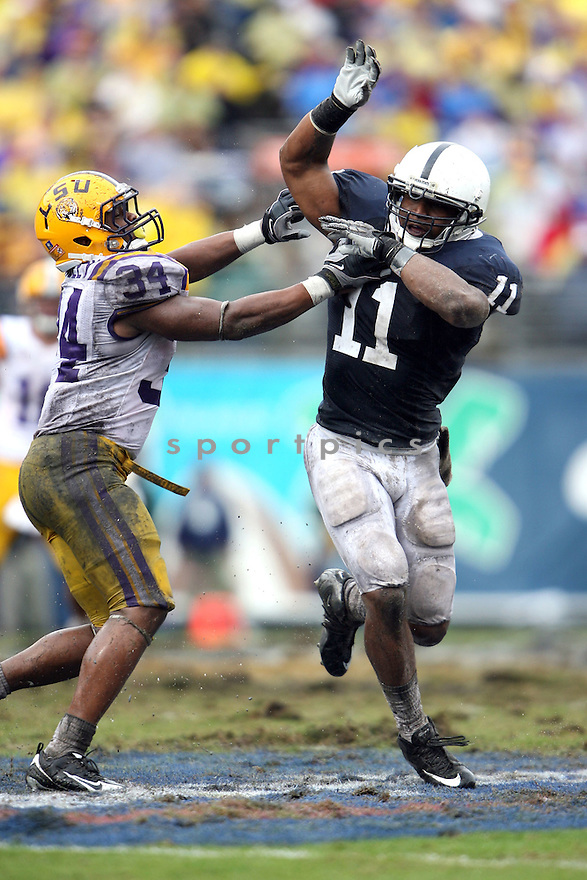 Penn State Nittany Lions during the 2010 Capital One Bowl at the Florida Citrus Bowl Stadium on January 1, 2010 in Orlando, Florida. Penn State won 19-17..By Tom DiPace.