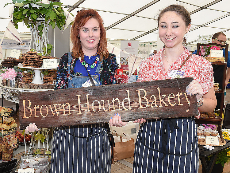 Megan Donnelly and Dearbhail Ní Oistin from the Brown Hound Bakery pictured at the Taste of Meath at Oldbridge House open day. Photo:Colin Bell/pressphotos.ie