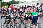 Maria Slattery, Ethan Slattery, Lorcan Daly, Caroline Byrne, and Brayden Slattery at the Stephanie O'Sullivan memorial cycle in Milltown on Sunday