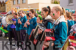 Musicians from Holymount NS entertaining the crowds the Rathmore St Patricks parade on Sunday