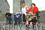 Wheelchair users from north Kerry were furious when their wheelchair reserved seating was not available when they were returning from Dublin on Sunday, from left: Tom Kelly, Asdee (chairman of M.S North Kerry) Tom Kelly, Mary Doyle & Kyra Walsh all from Listowel.