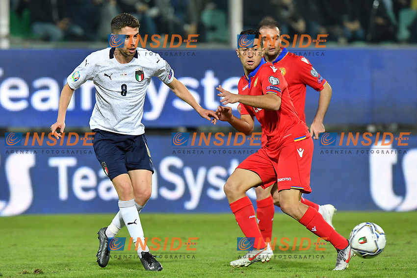 Italy's Jorginho vies for the ball with Armenia's Artem Simonyan <br /> Palermo 18-11-2019 Stadio Renzo Barbera <br /> UEFA European Championship 2020 qualifier group J <br /> Italy - Armenia <br /> Photo Carmelo Imbesi / Insidefoto
