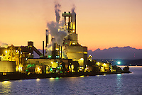 Simpson Tacoma Kraft Mill at Twilight