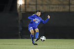 DURHAM, NC - NOVEMBER 25: Duke's Mattias Frick (AUT). The Duke University Blue Devils hosted the Fordham University Rams on November 25, 2017 at Koskinen Stadium in Durham, NC in an NCAA Division I Men's Soccer Tournament Third Round game. Fordham advanced 8-7 on penalty kicks after the game ended in a 2-2 tie after overtime.