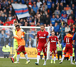 22.09.2019 St Johnstone v Rangers: Alfredo Morelos embraces keeper Zander Clark at full time