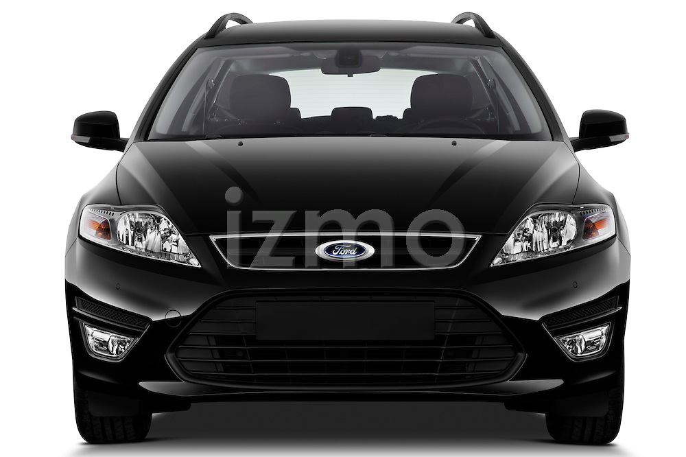 Straight front view of 2011 Ford Mondeo Trend Wagon Stock Photo