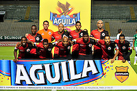 CALI -COLOMBIA-23-08-2015. Jugadores de Cúcuta Deportivo posan para una foto previo al partido entre Deportivo Cali y Cúcuta Deportivo por la fecha 8 de la Liga Aguila II 2015 jugado en el estadio Deportivo Cali (Palmaseca) de la ciudad de Palmira. / Players of Cucuta Deportivo pose to a photo prior a match between Deportivo Cali and Cucuta Deportivo for the 8th date of the Liga Aguila II 2015 played at the Deportivo Cali (Palmaseca) stadium in Palmira city. Photo: VizzorImage/ Nelson Rios / Cont