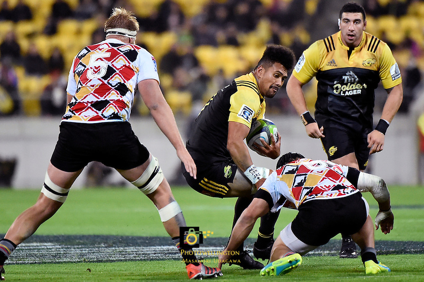 Hurricanes' Ardie Savea in action during the Super Rugby - Hurricanes v Southern Kings at Westpac Stadium, Wellington, New Zealand on Friday 25 March 2016.<br /> Photo by Masanori Udagawa. <br /> www.photowellington.photoshelter.com.