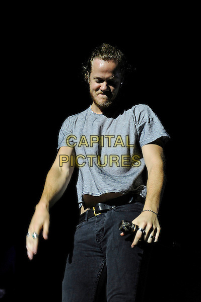 LONDON, ENGLAND - NOVEMBER 4: Dan Reynolds of 'Imagine Dragons' performing at O2 Arena on November 4, 2015 in London, England.<br /> CAP/MAR<br /> &copy; Martin Harris/Capital Pictures