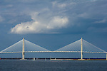 Arthur Ravenel Jr Bridge over the Cooper River on The Charleston South Carolina Harbor connecting Downtown Charleston to Mt Pleasant sc