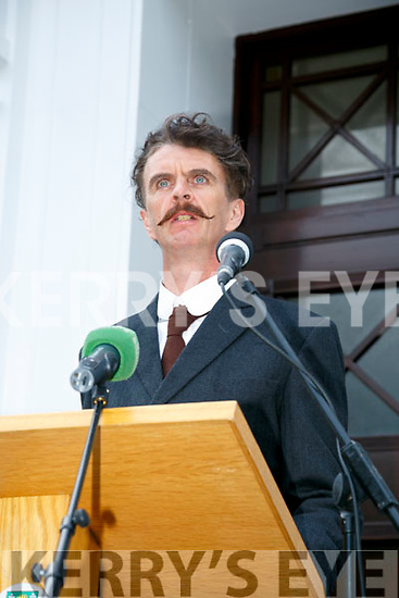 'Let me Carry your cross for Ireland Lord performed by Actor Declan McCarthy as Thomas Ashe at the rededicated to Thomas Ashe at a ceremony hosted by Kerry County Council on Monday