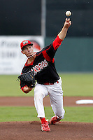 Batavia Muckdogs pitcher Ryan Sherriff #45 during a game against the Mahoning Valley Scrappers at Dwyer Stadium on August 20, 2011 in Batavia, New York.  Batavia defeated Mahoning Valley 5-4.  (Mike Janes/Four Seam Images)