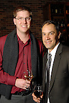 Aaron Loeb and Steve Araiza at the Carmen and David Bridges Joyful Toyful Fiesta 19th Annual Holiday Toy Drive Party at Gigi's Asian Bistro & Dumpling Bar in the Galleria Tuesday Dec. 01,2009. (Dave Rossman/For the Chronicle)