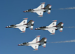 (Chicopee, MA, 07/15/18) The US Air Force Thunderbirds perform during the Great New England Air and Space Show at Westover Air Reserve Base in Chicopee on Sunday, July 15, 2018. Photo by Christopher Evans