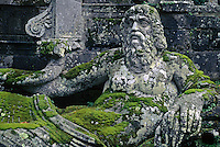 Stone carving of the Giant ARNO (Florence) at VILLA LANTE (Italian Renaissance Garden, 1566), VITERBO - TUSCANY, ITALY