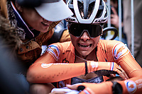 post race moment.<br /> Ceyling Del Carmen Alverado (NED) wins the Women's Elite Race and is the new World Champion Women Elite. <br /> <br /> UCI 2020 Cyclocross World Championships<br /> Dübendorf / Switzerland<br /> <br /> ©kramon