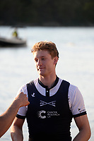 Putney/Mortlake, GREATER LONDON. United Kingdom. 2017 Women's and Men's University Boat Races, held over, The Championship Course, Putney to Mortlake on the River Thames. James COOK,  <br /> Sunday  02/04/2017, <br /> <br /> [Mandatory Credit; Intersport Images]